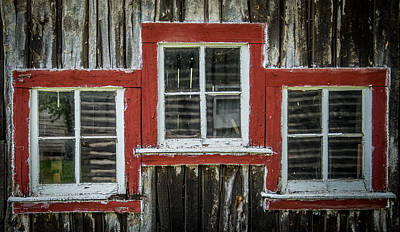 Cabin Window Photograph - 3 Windows by Paul Freidlund