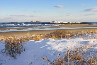 Photograph - Winter At Popham Beach State Park Maine by Keith Webber Jr