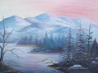 Painting - Winter In The Mountains by Glenda Barrett