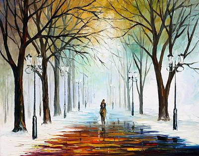 Abstract People Painting - Winter Mood by Leonid Afremov