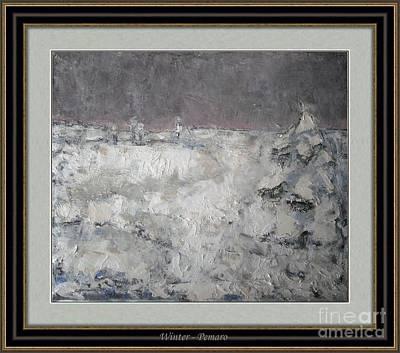 Winter Scene Painting - Winter  by Pemaro