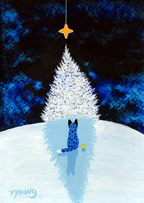 Blue Healer Painting - Winter Star by Todd Young