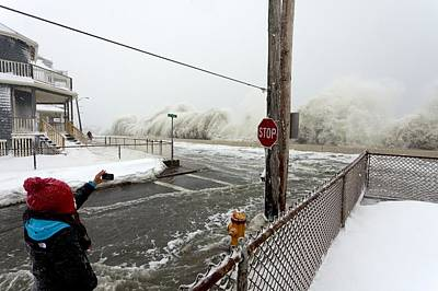 Winter Storm Nemo Photograph - Winter Storm Nemo, February 2013, Usa by Science Photo Library