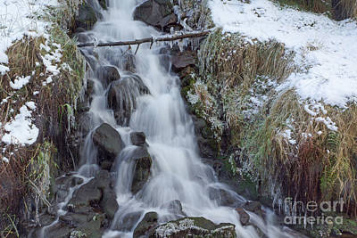Photograph - Winter Waterfall 3 by David Birchall