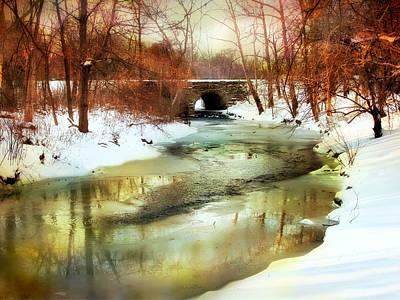 Snow Digital Art - Winter Waters by Jessica Jenney