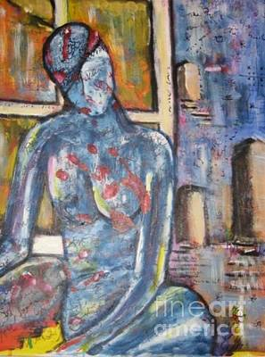 Painting - Woman Blue by Chaline Ouellet