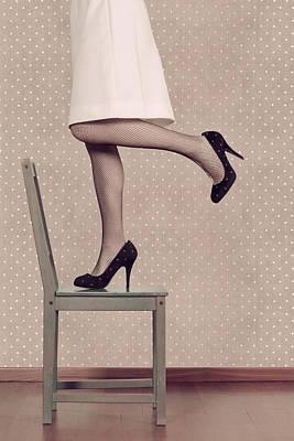 50s Photograph - Woman On Chair by Joana Kruse