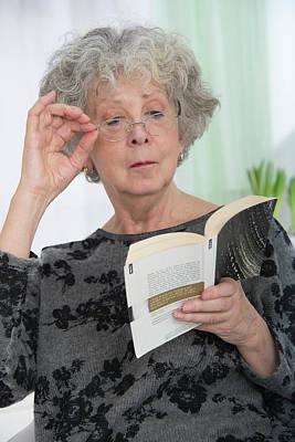 Woman Reading A Book Art Print by Lea Paterson