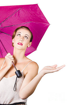 Woman With Umbrella Art Print