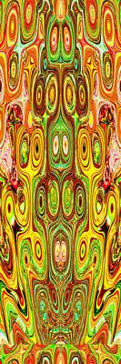 Woodcraft Ghosts Spirits Indian Native Aboriginal Masks Motif Symbol Emblem Ethnic Rituals Display H Art Print