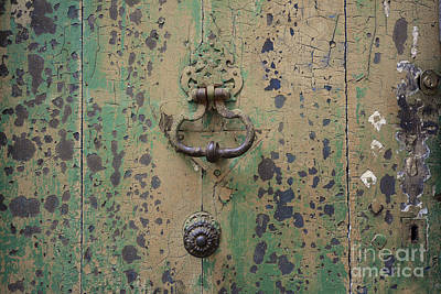 Wooden Door Art Print by Bernard Jaubert