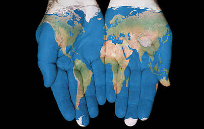 World In Our Hands Art Print