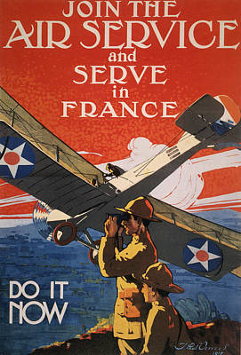 Us Army Air Force Painting - World War I Air Service by Granger