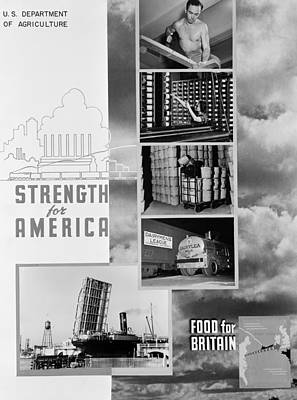 American Food Painting - World War II Poster, 1941 by Granger