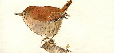 Wren Bird Print by Juan  Bosco