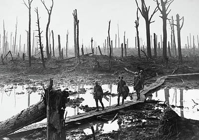 Ypres Photograph - Wwi Passchendaele, 1917 by Granger