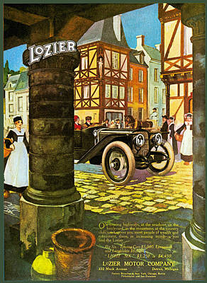 Photograph - Lozier Motor Car Company by Vintage Automobile Ads and Posters