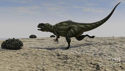 Digital Art - Yangchuanosaurus Running by Kostyantyn Ivanyshen