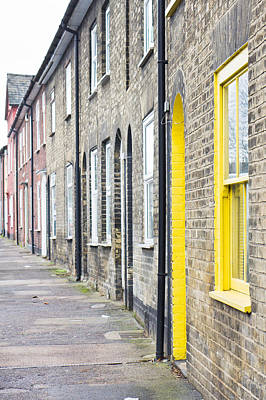 Frame House Photograph - Yellow Door by Tom Gowanlock