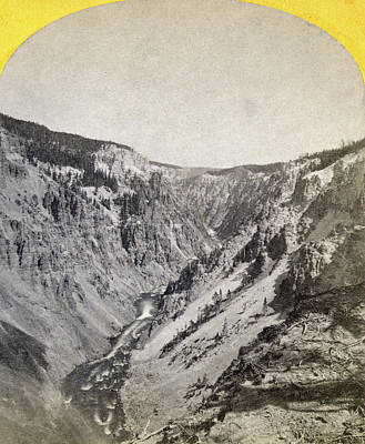 Grand Canyon Of Arizona Painting - Yellowstone Canyon, 1871 by Granger