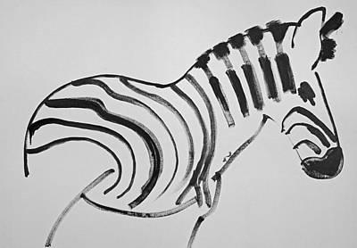 Horses Painting - Zebra by Charles Stuart