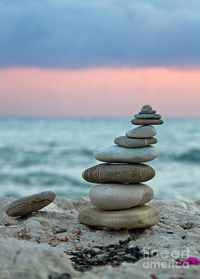 Rock Photograph - Zen by Stelios Kleanthous