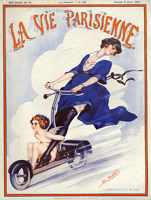 Magazine Drawing - 1920s France La Vie Parisienne Magazine by The Advertising Archives