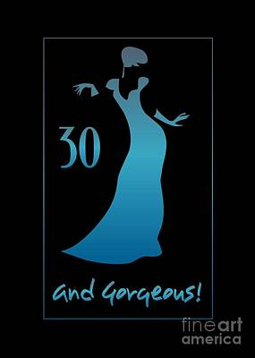 Digital Art - 30 And Gorgeous by JH Designs