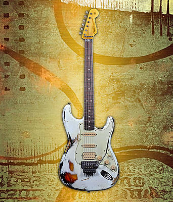 Stratocaster Mixed Media - Fender Stratocaster Collection by Marvin Blaine