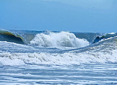 Photograph - Hurricane Storm Waves by Millard H. Sharp