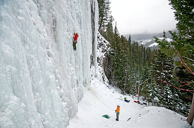 Sports Royalty-Free and Rights-Managed Images - Ice Climbing by Elijah Weber