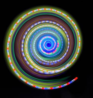 Portal Photograph - Multicoloured Light Trails by Lawrence Lawry