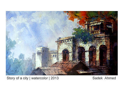 Panam Painting - Old Dhaka by Sadek Ahmed
