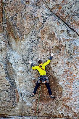 Rock Climber Art Print by Elijah Weber