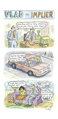 2 Drawing - New Yorker May 19th, 2008 by Roz Chast