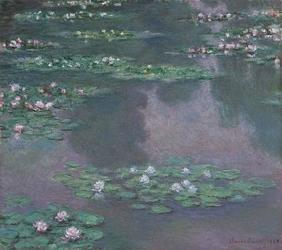 Boston Painting - Water Lilies by Claude Monet