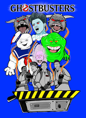 30 Years Of Ghostbusters Art Print by Gary Niles