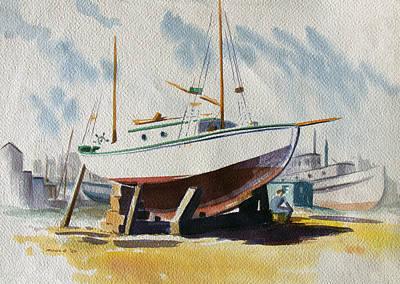 San Juan Painting - The Shipyard by Frank Edward Poole