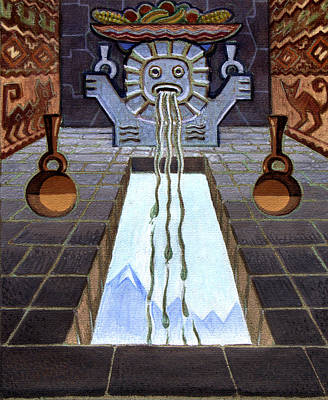 Ancient Civilization Painting - Mayan Passage by Robert Poole