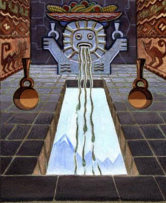 Yucatan Painting - Mayan Passage by Robert Poole