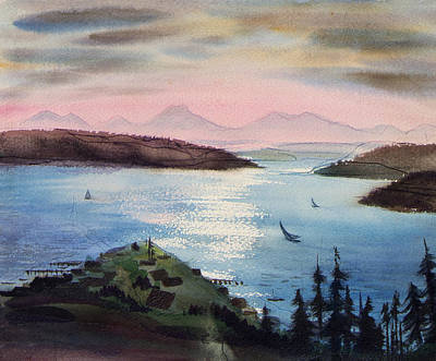 San Juan Painting - Pacific Northwest by Robert Poole