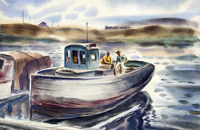 Gig Painting - Gig Harbor by Robert Poole