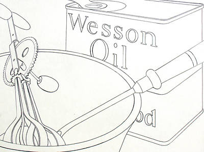 Bif Drawing - Wesson Oil by Robert Poole