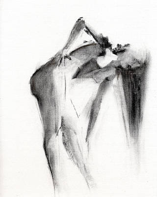 Nude Wall Art - Drawing - Rcnpaintings.com by Chris N Rohrbach