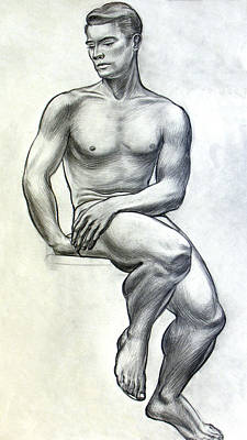 Classic Study Drawing - Physical Culture by Robert Poole