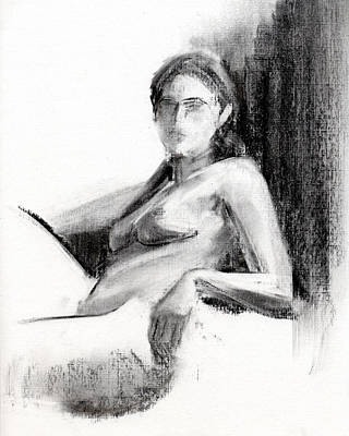Nude Figure Drawing - Rcnpaintings.com by Chris N Rohrbach