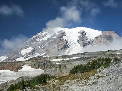 Photograph - 30920-28 Mt Rainier Summit by Albert Seger