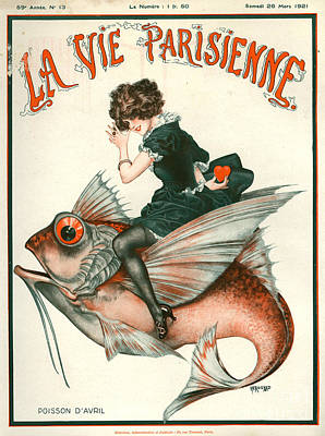Cheri Herouard Drawing - 1920s France La Vie Parisienne Magazine by The Advertising Archives