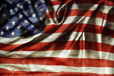 Albert Bierstadt - American flag No.240 by Les Cunliffe