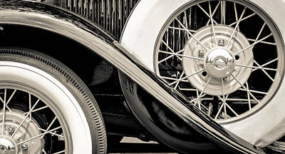 Photograph - '31 Model A Wheels by Ronda Broatch